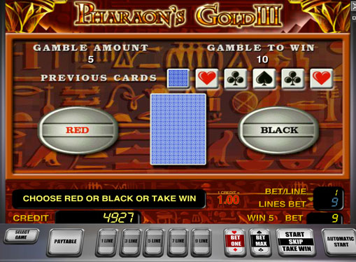 Dublarea jocului de jocuri mecanice Pharaoh's Gold III