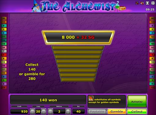Dublarea jocului de jocuri mecanice The Alchemist