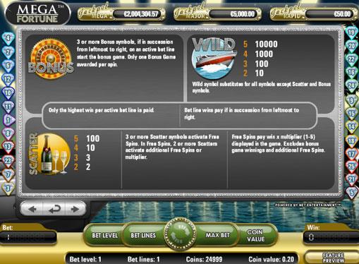 Învârtiri gratuite de jocuri mecanice Mega Fortune