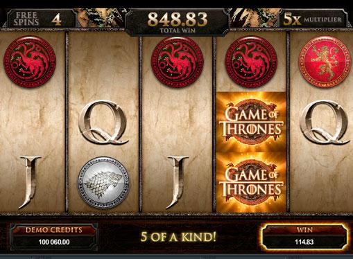 Jocuri mecanice Game of Thrones pentru bani reali