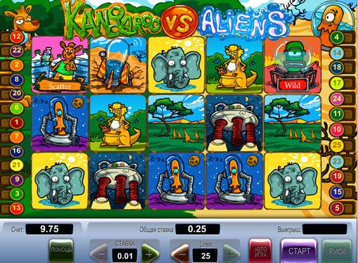 Kangaroo vs Aliens jucați jocuri mecanice online pentru bani