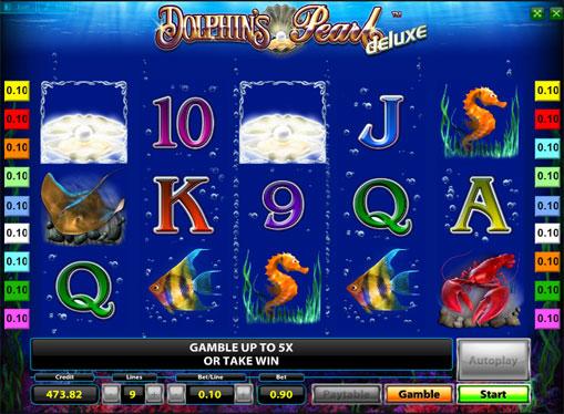 Linie câștigătoare de jocuri mecanice Dolphins Pearl Deluxe