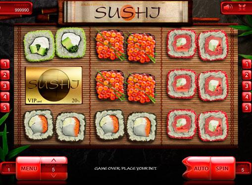 Mulinetele mașinii de joc Sushi