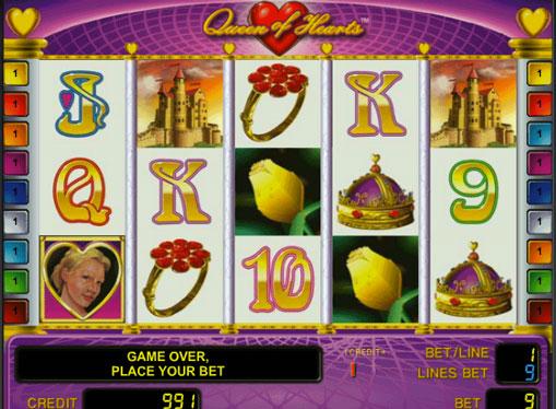 Queen of Hearts jucați jocuri mecanice online pentru bani