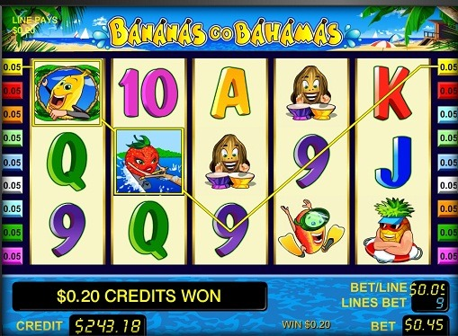 Rotile slotului Bananas go Bahamas
