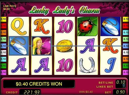 Rotile slotului Lucky Lady's Charm