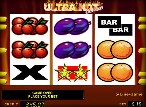 Rotile slotului Ultra Hot Deluxe