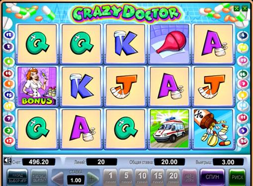 Semnele slotului Crazy Doctor