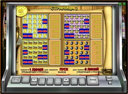 Tabelul de plăți al slotului Pirate